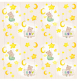 baby bear seamless pattern vector image