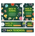 Back to school banner set different sizes vector image