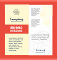 basket company brochure title page design company vector image vector image