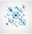 bauhaus art composition decorative modular blue vector image vector image