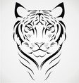 Bengal Tiger Tattoo Design vector image vector image