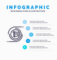 bitcoins bitcoin block chain crypto currency vector image
