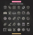 bread and pastry chalk vector image vector image