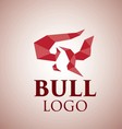 bull logo 2 vector image vector image