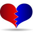bursting heart vector image vector image