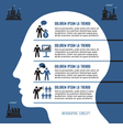 Business Infographic Concept with Human Head vector image vector image