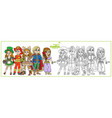 children in carnival costumes leprechaun vector image vector image