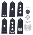 Chinese police insignia vector image vector image