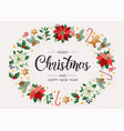 christmas postcard with calligraphic season vector image vector image