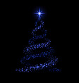 christmas tree happy new year background vector image vector image