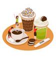 coffee house barista concept vector image vector image