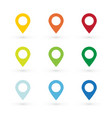 color map pin vector image vector image