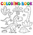 coloring book dinosaur composition image 3 vector image vector image