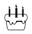 contour cake pastel with candles decoration vector image