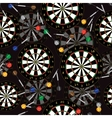 Darts Target and darts seamless background vector image