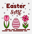 easter sale theme flat icons of a painted egg and vector image vector image