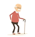 Elderly Man Suffering From Back Pain vector image