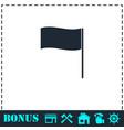 flag icon flat vector image
