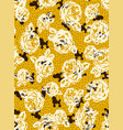 flowers and dogs pattern vector image