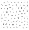 geometric pattern with geometric elements vector image vector image