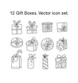 gift boxes with ribbons in various shapes vector image vector image