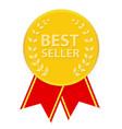 Gold Label Best Seller vector image vector image
