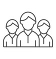 group of people thin line icon team vector image