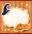 halloween background with label vector image