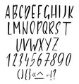 Hand drawn ink simple font modern brush lettering