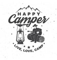 happy camper concept for vector image