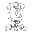 happy father day simple style vector image vector image