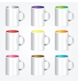 High detailed cups vector image
