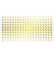 human embryo gold halftone pattern vector image