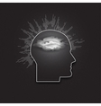icon of human head Dark design vector image