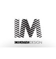 im i m lines letter design with creative elegant vector image