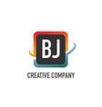 initial letter bj swoosh creative design logo vector image vector image