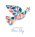 international peace day card for people freedom vector image vector image