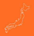 Japan map in line style on isolated background