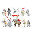 knight medieval knighthood and knightly vector image vector image