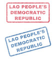 lao people s democratic republic textile stamps vector image