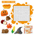 learn english with an autumn word search game for vector image vector image