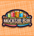logo for mocktail bar vector image vector image