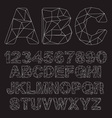 Lowpoly Outline Font vector image vector image