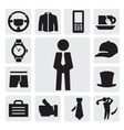mans accessories vector image vector image