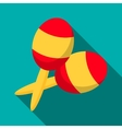 Maracas icon flat style vector image vector image