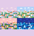 minimal style town geometric minimalist city vector image vector image