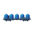 modern railway cisterns freight train side view vector image vector image