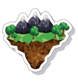 mountain landscape isometric icon vector image vector image
