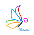 multi-color abstract butterfly vector image