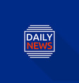 new daily news logo flat style vector image vector image
